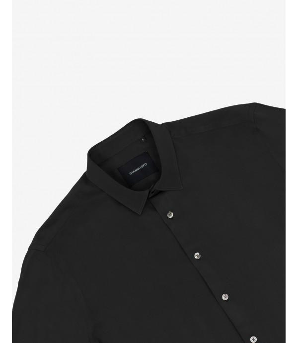 Camicia in viscosa nera