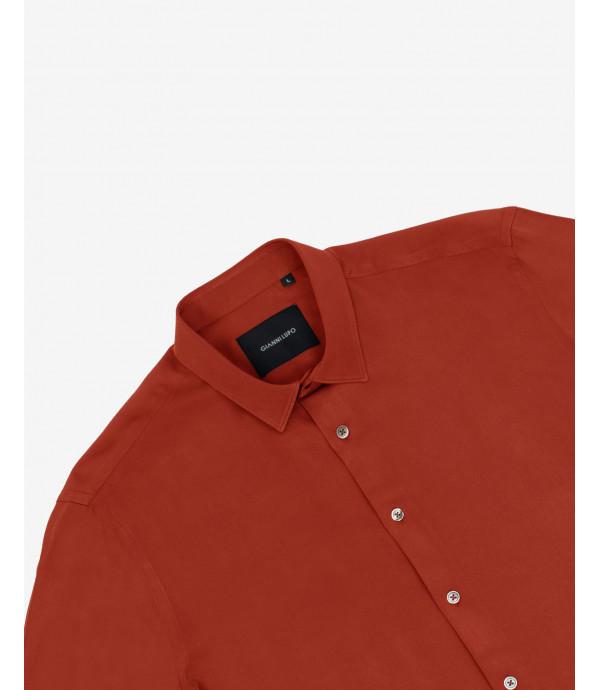 Camicia in viscosa coccio