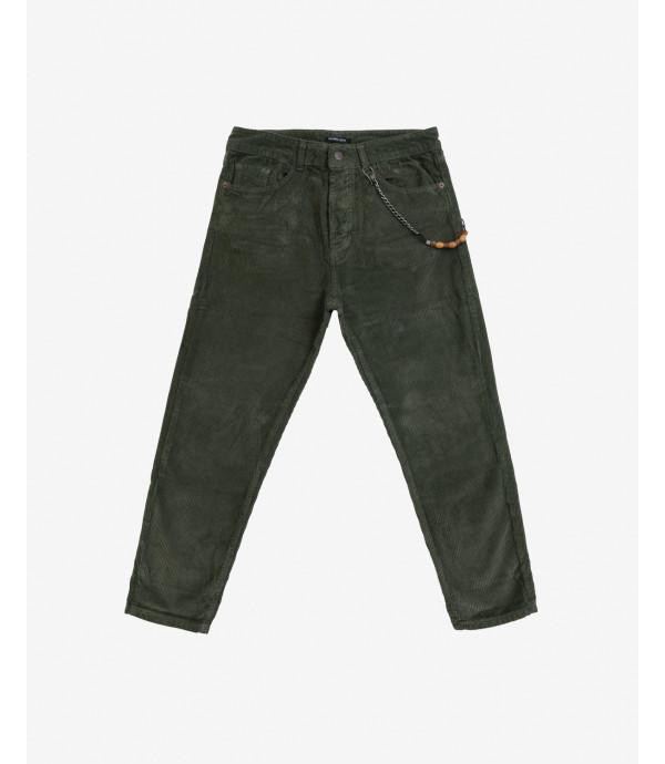 Corduroy trousers in green