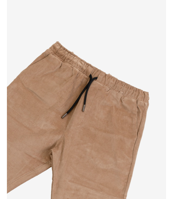 Drawstring trousers in corduroy