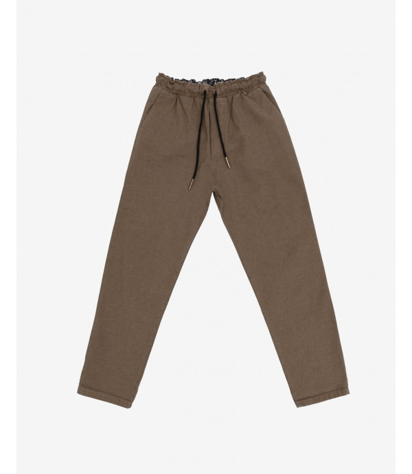 Micro patterned drawstring trousers