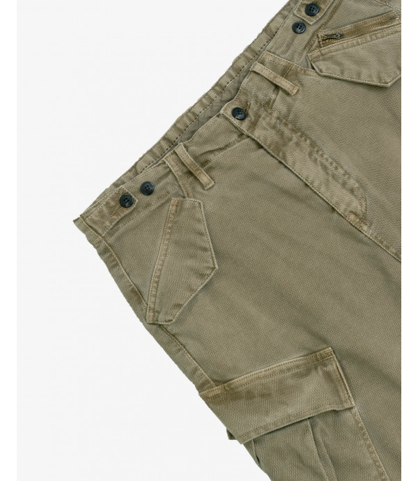 Textured carrot fit cargo trousers