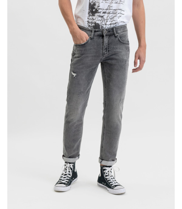 Steve super skinny jeans with fleece fabric