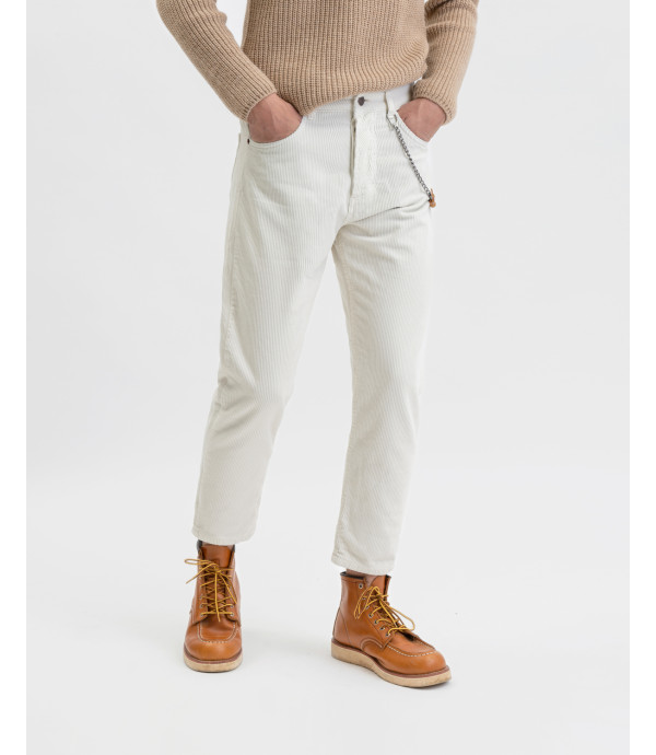 Corduroy trousers in butter
