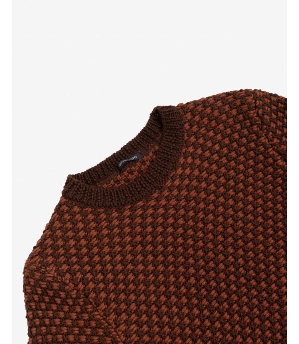 Maglione ad intreccio bicolore
