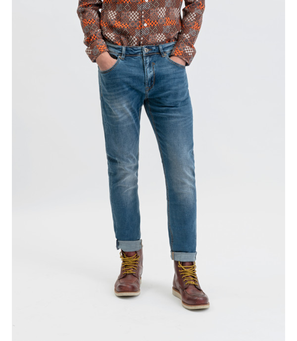 Bruce regular jeans medium wash with whiskers