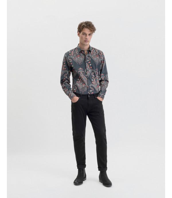 Camicia in fantasia macro cashmere
