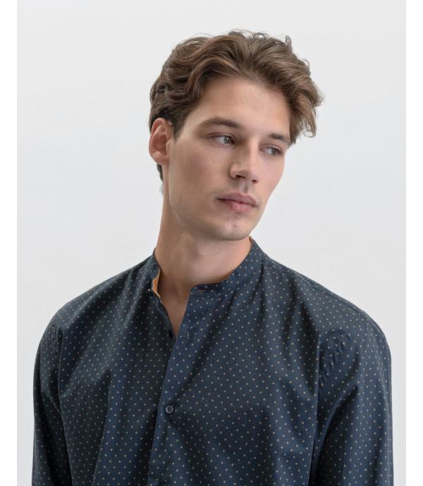 Camicia coreana in fantasia a pois