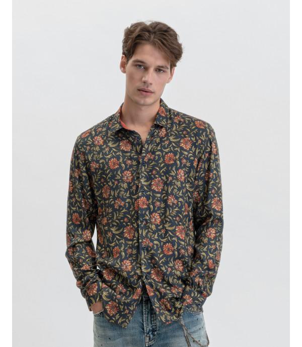 Camicia fantasia floreale in viscosa