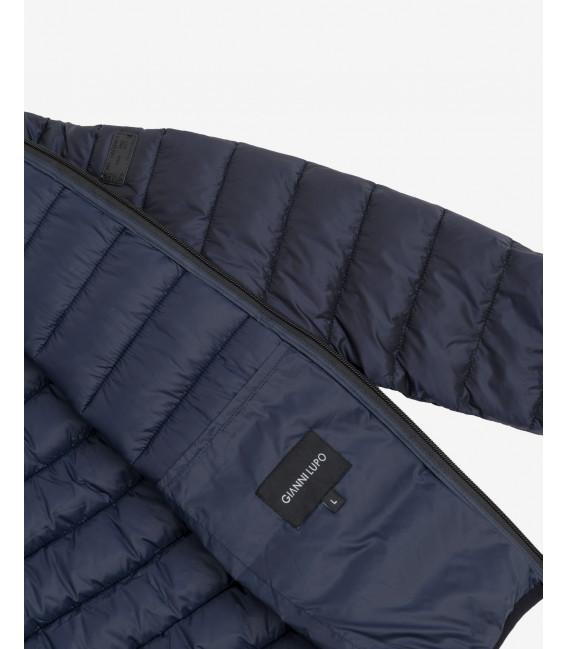 Basic puffer jacket in deep blue