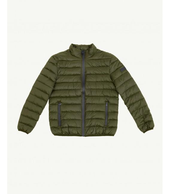 Basic puffer jacket in green