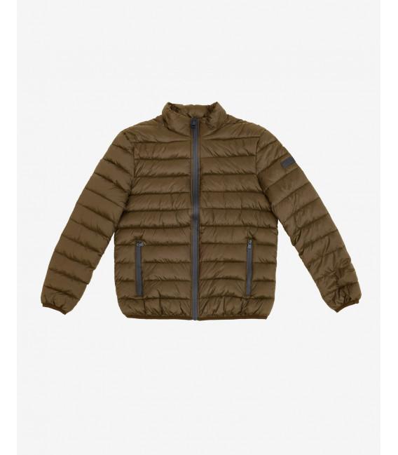 Basic puffer jacket in bronze