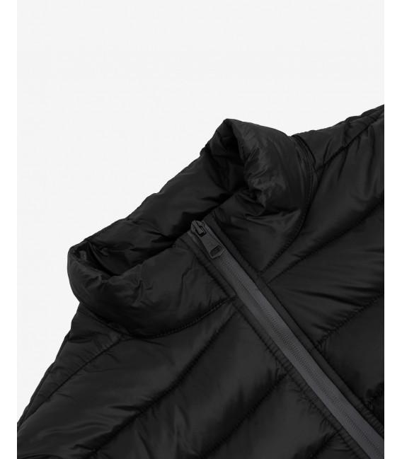 Basic puffer jacket in black