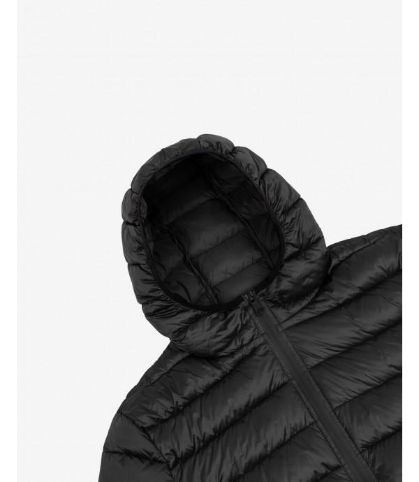 Piumino 100 grammi con cappuccio basico nero
