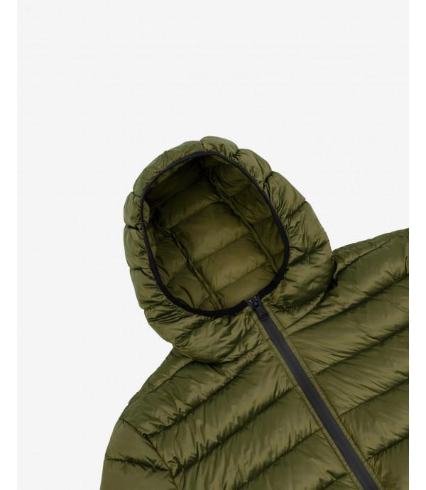 Piumino 100 grammi con cappuccio basico verde