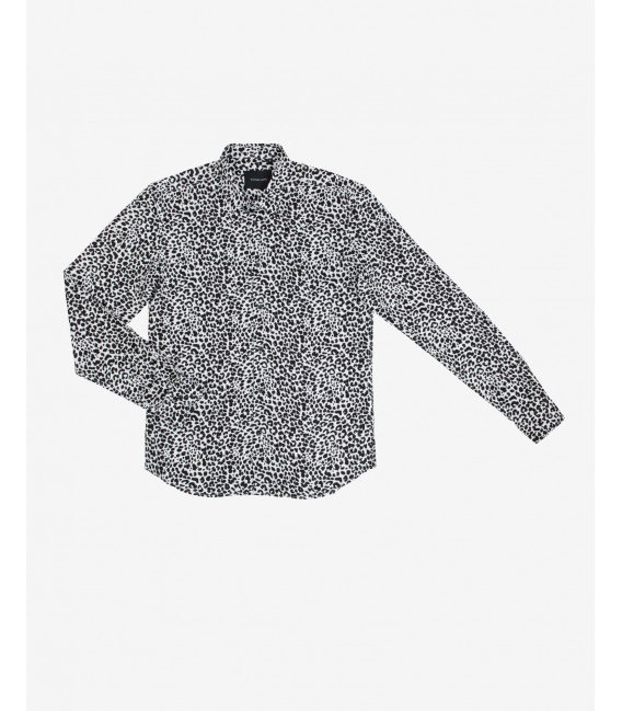 Animalier patterned viscose shirt