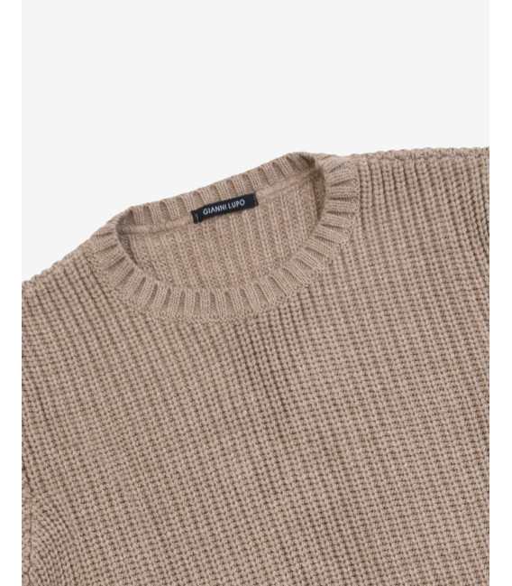 Ribbed wool blend sweater