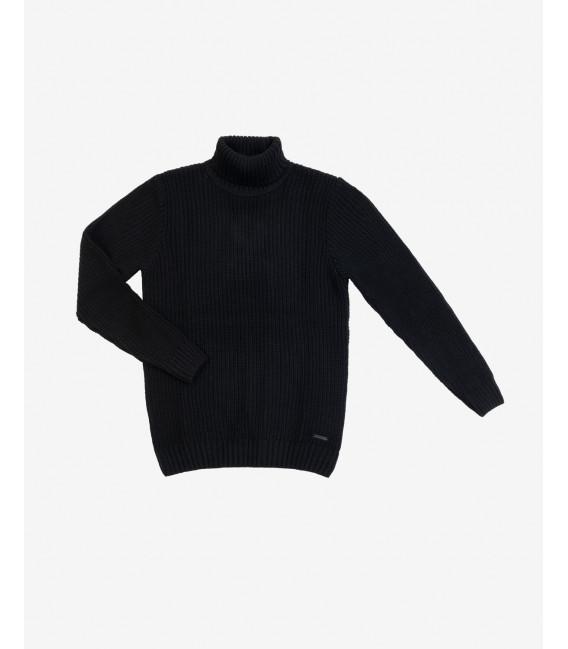 Ribbed wool blend turtleneck sweater