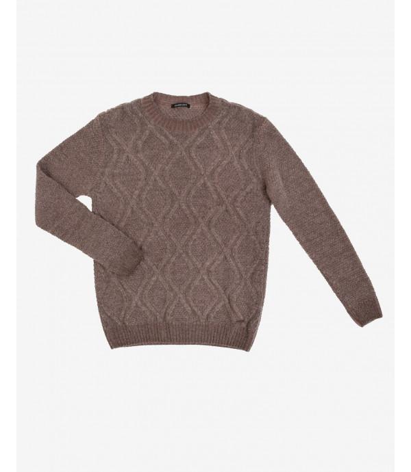 Maglione in lana a trecce
