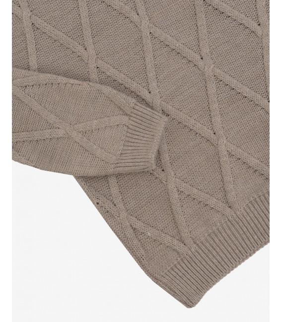 Patterned turtleneck jumper