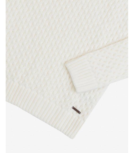 Wool blend knitted sweatwer in cream