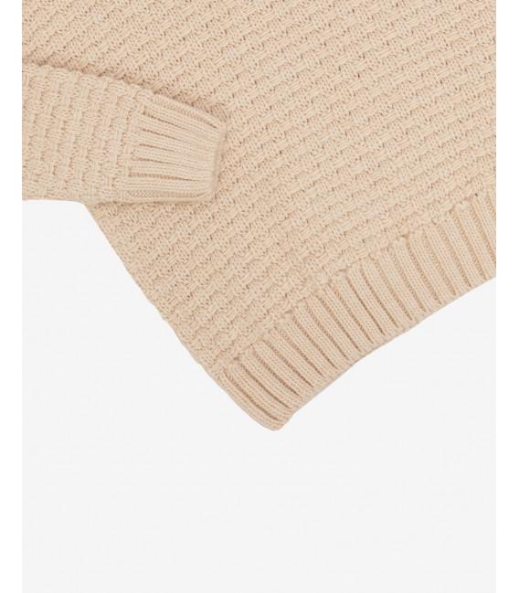 Knitted turtleneck jumper in cream