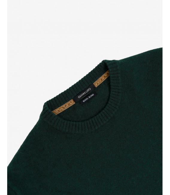 Cashmere blend crewneck sweater in green