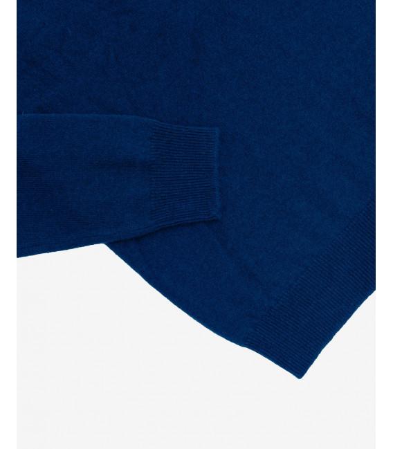 Cashmere blend crewneck sweater in blue