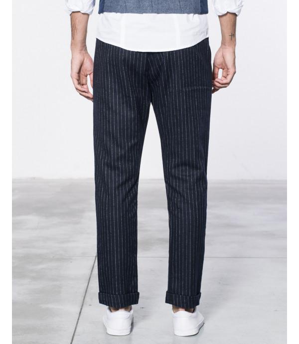 Pantaloni eleganti gessati