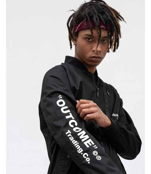 Bomber in technical fabric with OUTCOME logo