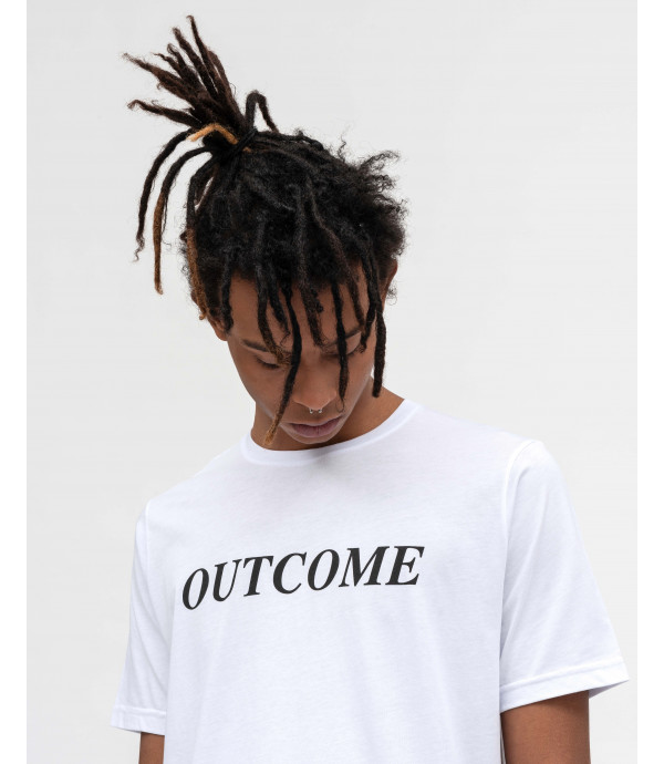 T-shirt with OUTCOME print