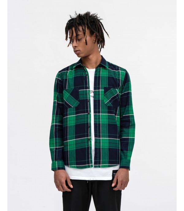 Green checked overshirt