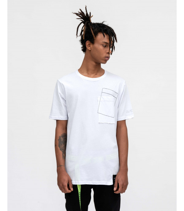 OUTCOME t-shirt with pocket detail