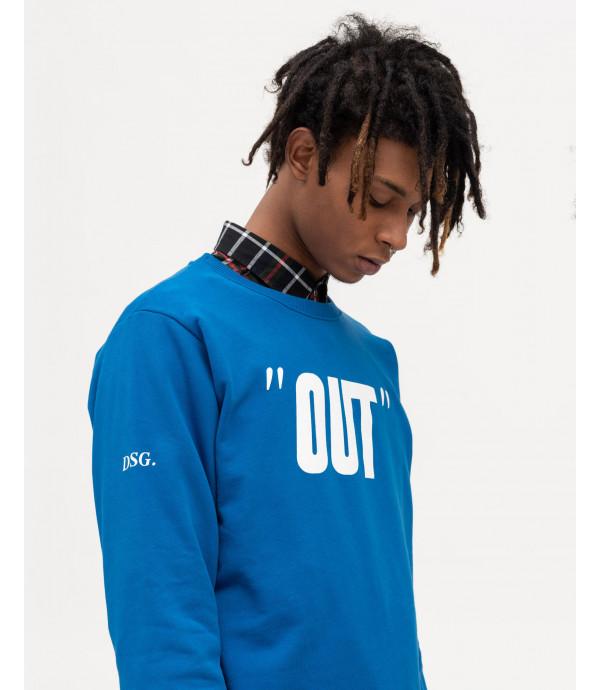 OUT print royal blue sweatshirt