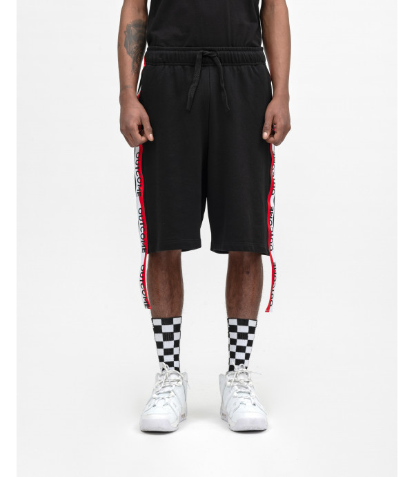 Shorts with OUTCOME stripes