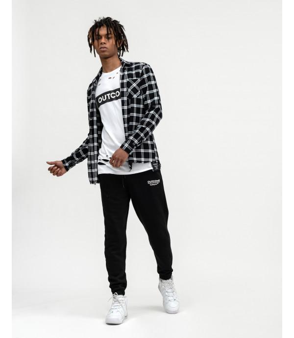 Black and white checked overshirt