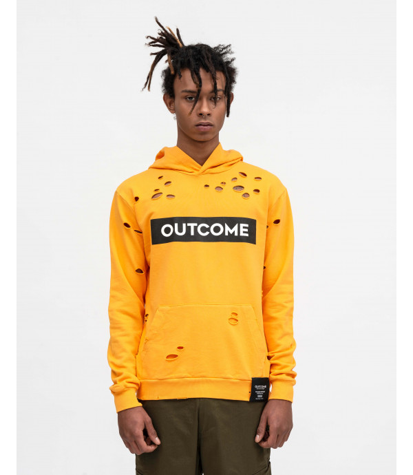 Hoodie with OUTCOME print