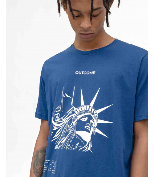 T-shirt with OUTCOME prints