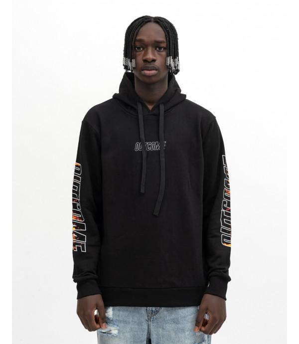 Hoodie with print on sleeve