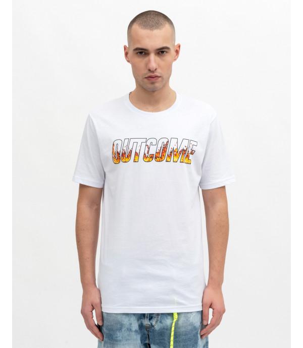 T-shirt with logo flame logo