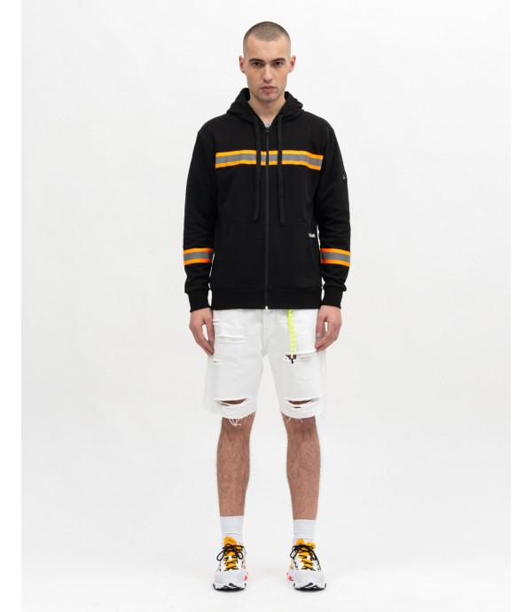 Sweatshirt with changierende detail