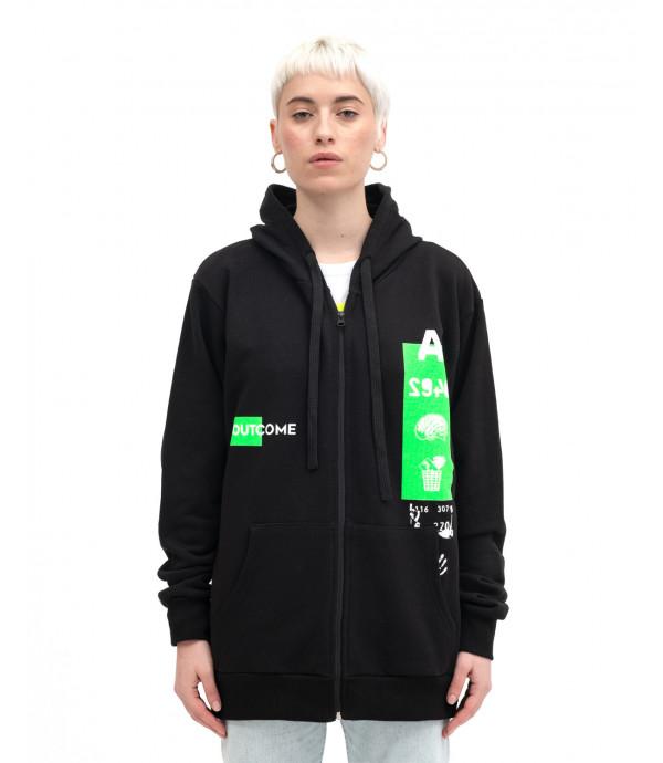 Sweatshirt with zip