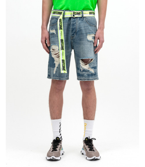 Denim Shorts with accessory