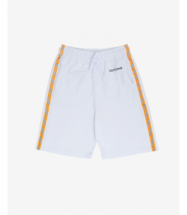 Shorts with contrasting stripe