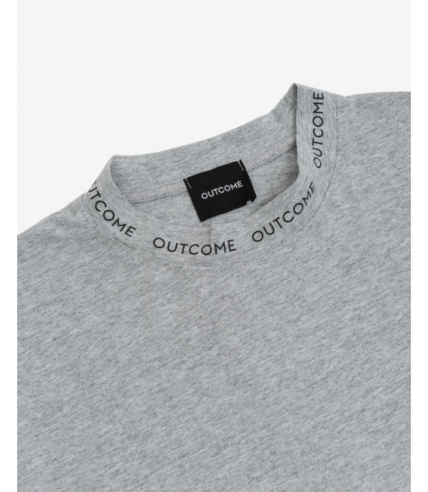 T-shirt with logo print on neckline