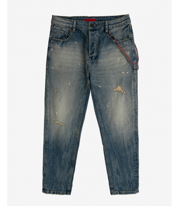 Mike carrot cropped fit stone wash