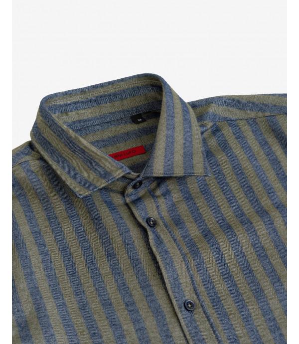 Striped flannel shirt