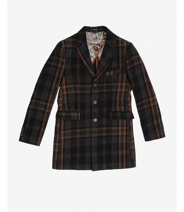 Checked coat