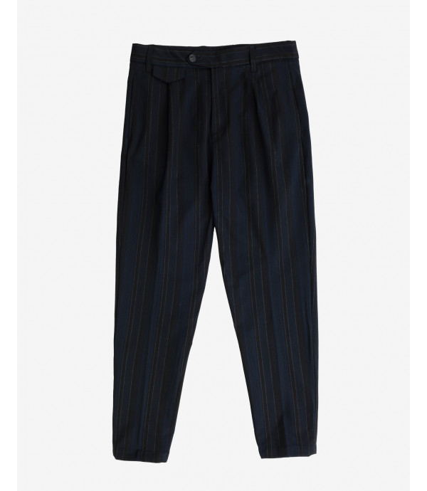 Smart trousers in stripes with pleats