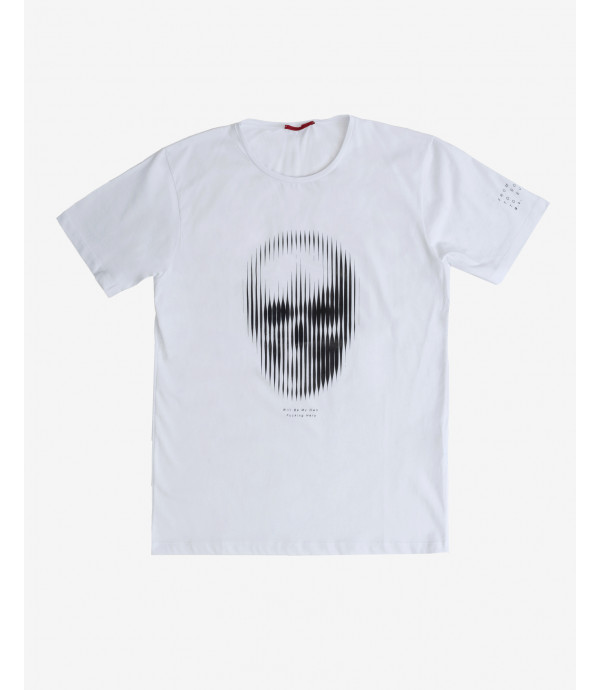 T-shirt with skull application